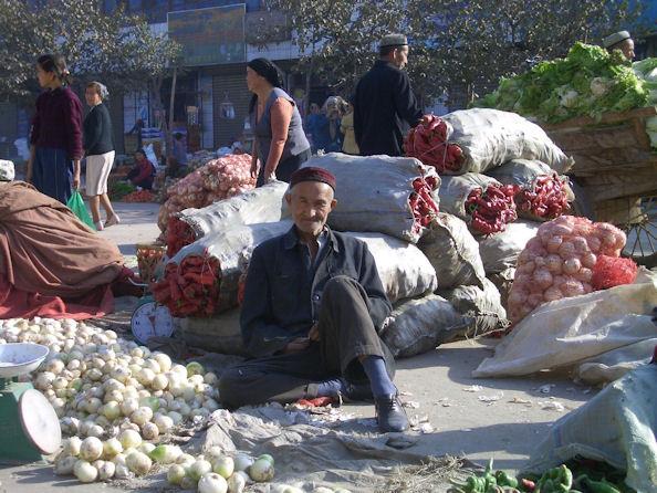 Onion Seller in Xinjiang